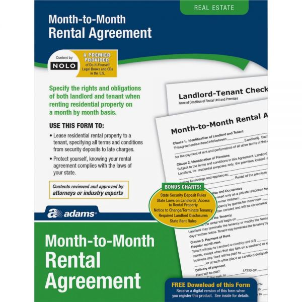 Adams Monthly Rental Agreement Form Set
