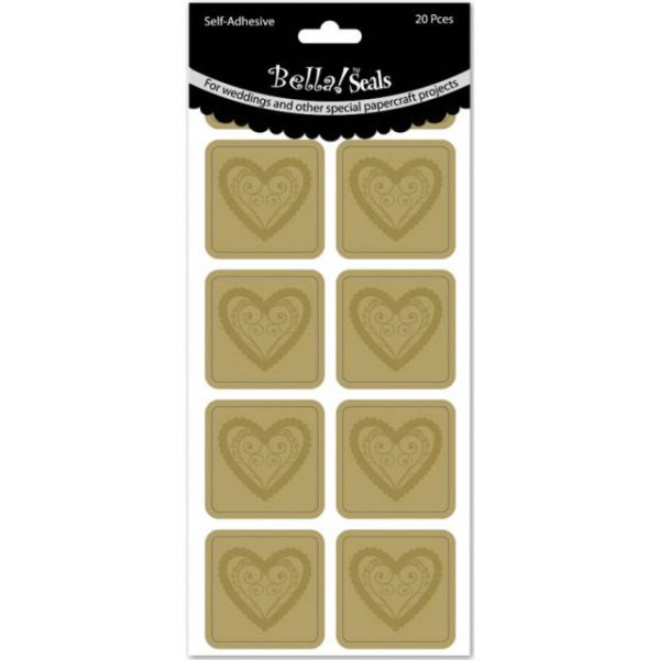 Wedding Foiled Seals 20/Pkg