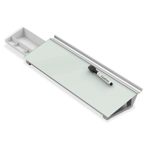 Quartet Glass Dry Erase Desktop Computer Pad, 18 x 6, White
