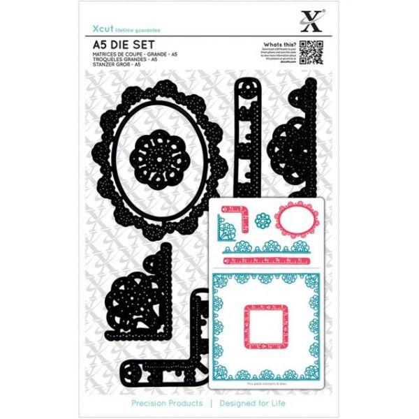 Xcut A5 Die Set 6/Pkg