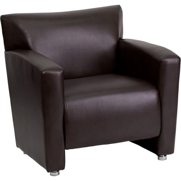 Flash Furniture Majesty Series Brown Leather Chair [222-1-BN-GG]