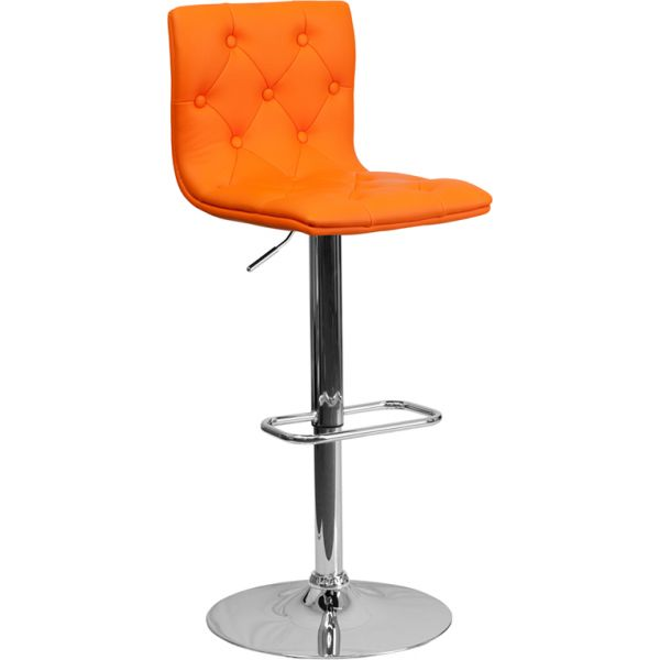 Flash Furniture Contemporary Tufted Vinyl Barstool