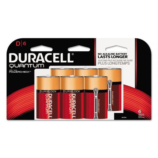 Duracell Quantum D Batteries w/Duralock Power Preserve Technology