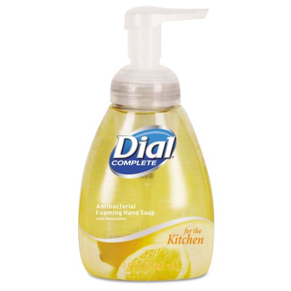 Dial Professional Antimicrobial Foaming Hand Wash, Light Citrus, 7.5oz Pump Bottle