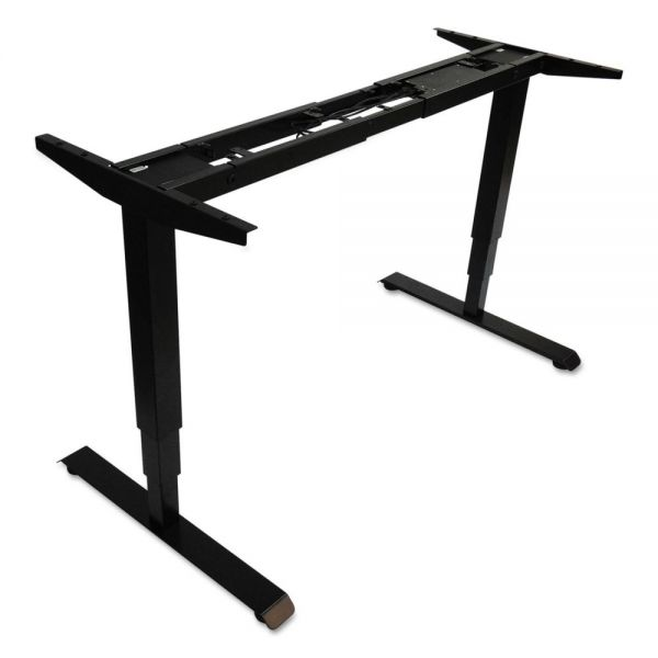 "Alera 3-Stage Electric Adjustable Table Base w/Memory Controls, 25"" to 50 3/4""H, Black"