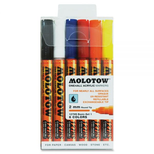 MOLOTOW One4All 2mm Acrylic Markers Basic Set