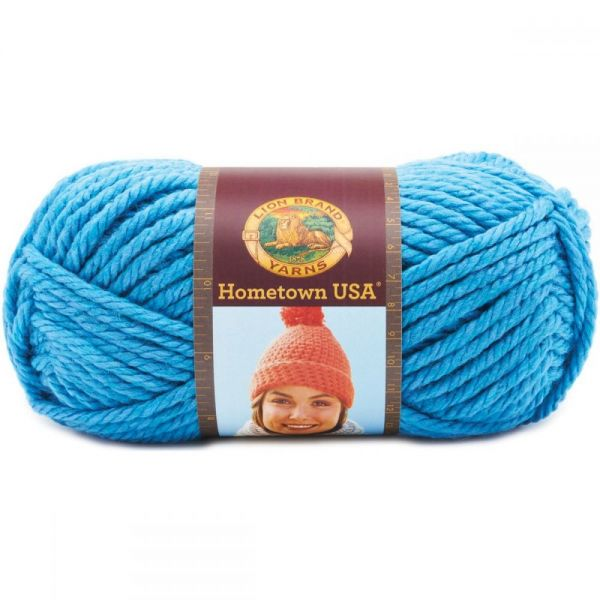 Lion Brand Hometown USA Yarn - Detroit Blue