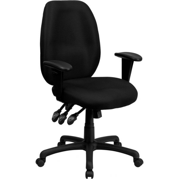 Flash Furniture High Back Ergonomic Executive Swivel Office Chair [BT-6191H-BK-GG]