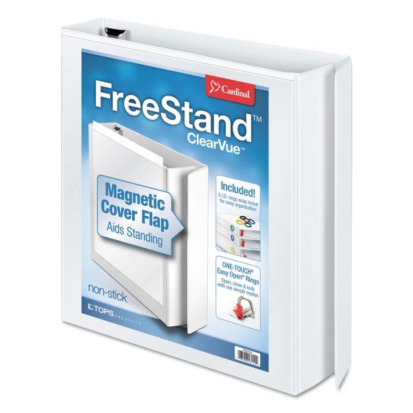 """Cardinal FreeStand 1 1/2"""" 3-Ring View Binder"""
