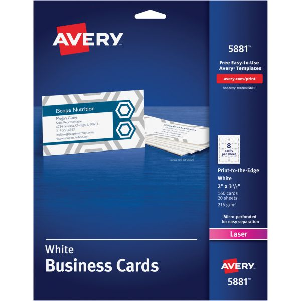 Avery Print-To-The-Edge Business Cards