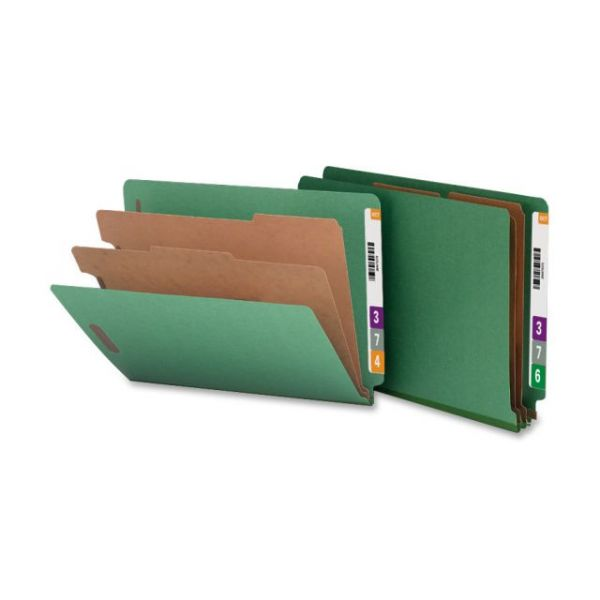 Nature Saver End Tab Green Classification Folders