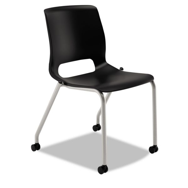 HON Motivate Series Upholstered 4-Leg Stacking Chair