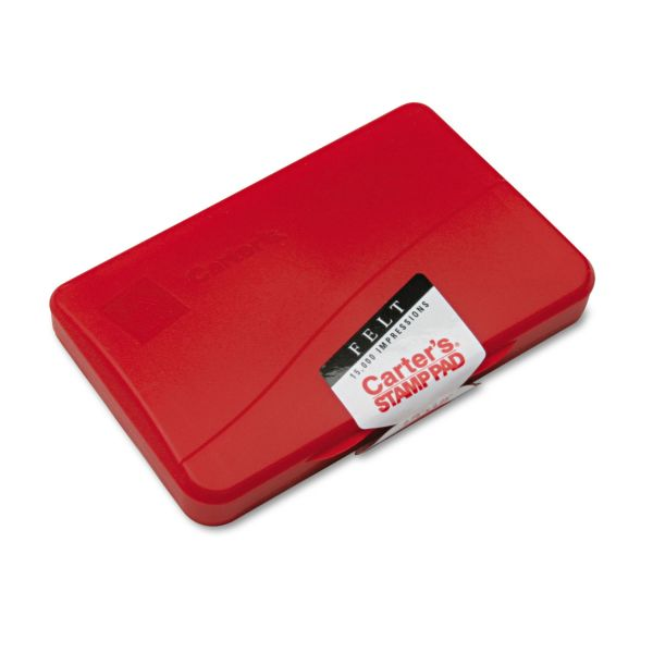 Carter's Felt Stamp Pad, 4 1/4 x 2 3/4, Red