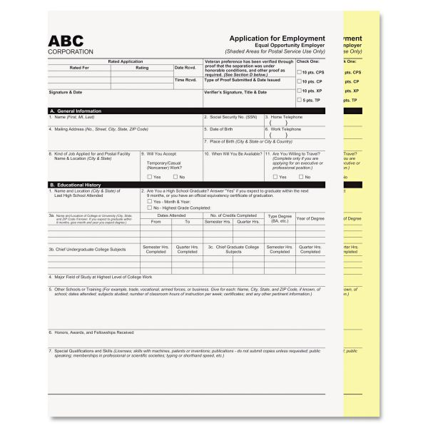 PM Company Digital Carbonless Paper, 8-1/2 x 11, Two-Part, White/Canary, 1250 Sets/Carton