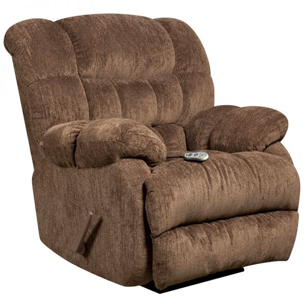 Flash Furniture Massaging Columbia Mushroom Microfiber Rocker Recliner with Heat Control