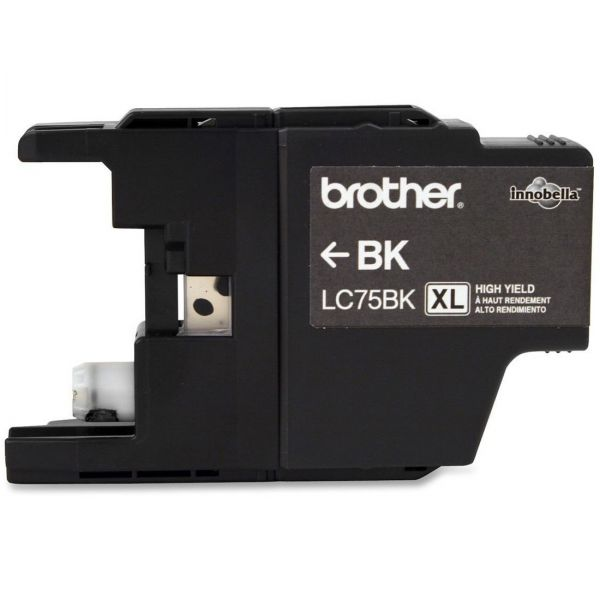 Brother LC75BK Black High Yield Ink Cartridge