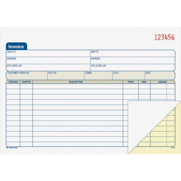 Adams Carbonless Invoice Book