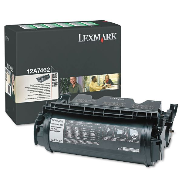Lexmark 12A7462 Black High Yield Return Program Toner Cartridge