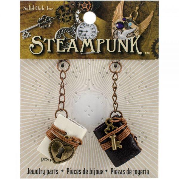 Steampunk Leather Accents 2/Pkg