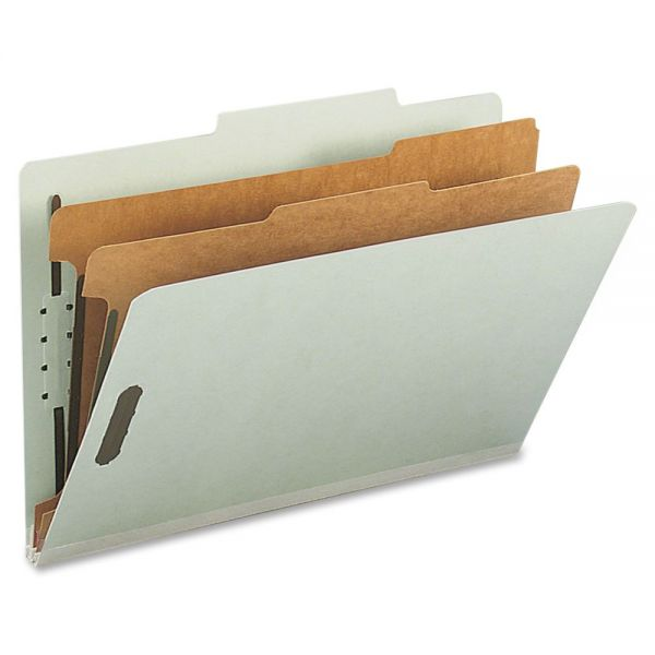 Nature Saver Gray-Green Pressboard Classification Folders