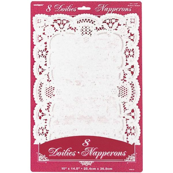 "Paper Doilies 10""X14.5"" Rectangle 8/Pkg"""