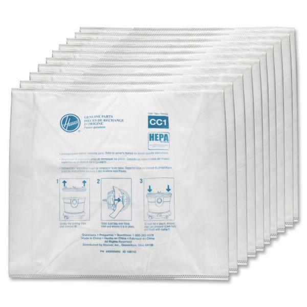 Hoover Commercial Disposable Vacuum Bags, Hepa CC1, 10/Carton