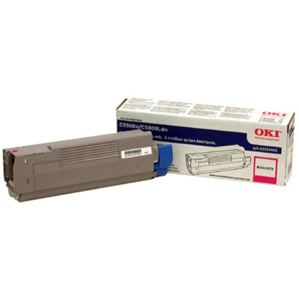 Oki 43324402 High-Yield Toner (Type C8), 5000 Page-Yield, Magenta