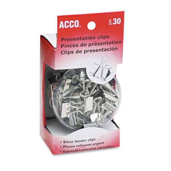 Acco Steel Presentation Binder Clips