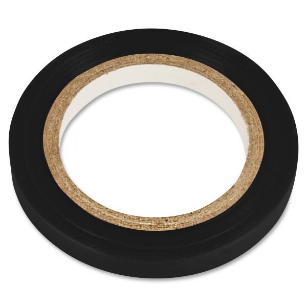 "COSCO Art Tape, Black Gloss, 1/4"" x 324"""