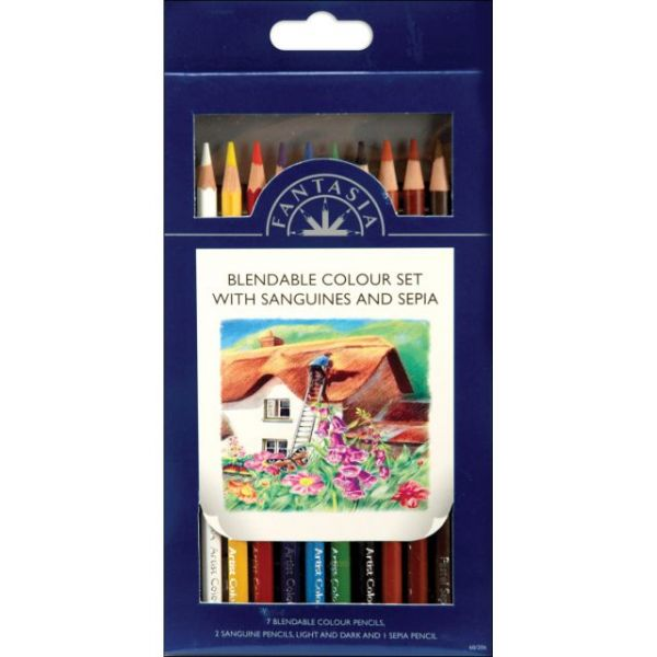 Pro Art Fantasia Blendable Colored Pencil Set