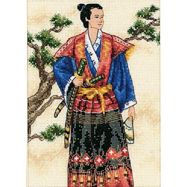 Gold Petite The Samurai Counted Cross Stitch Kit