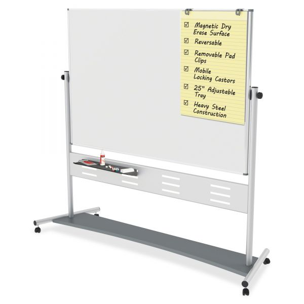 MasterVision Magnetic Double-Sided Mobile Dry Erase Easel