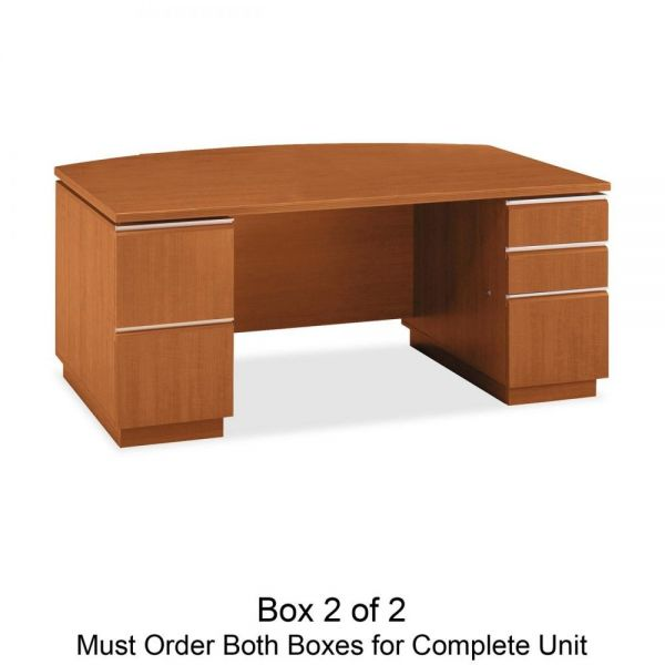 bbf Milano 2 Series Bow Front Double Pedestal Desk by Bush Furniture *Box 2 of 2