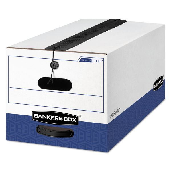 Bankers Box Liberty Plus Heavy-Duty Strength String & Button Storage Boxes