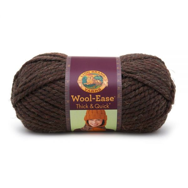 Lion Brand Wool-Ease Thick & Quick Yarn - Wood