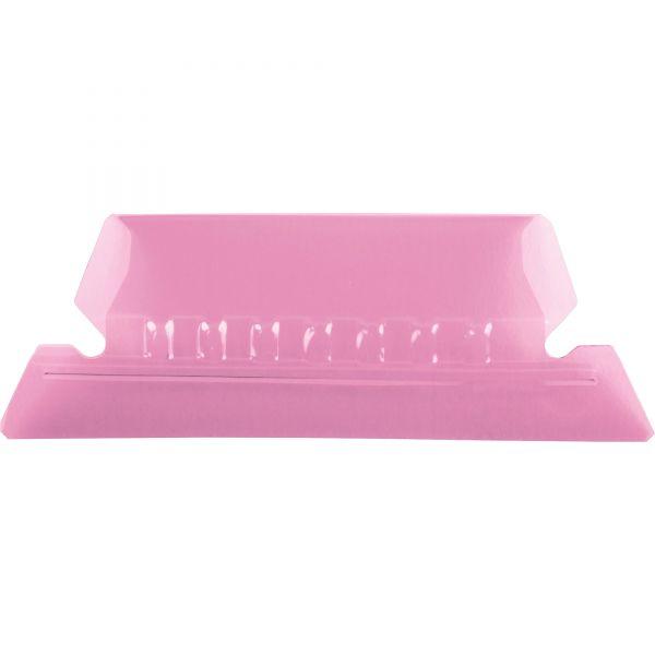 Pendaflex Hanging File Folder Tabs, 1/5 Tab, Two Inch, Pink Tab/White Insert, 25/Pack