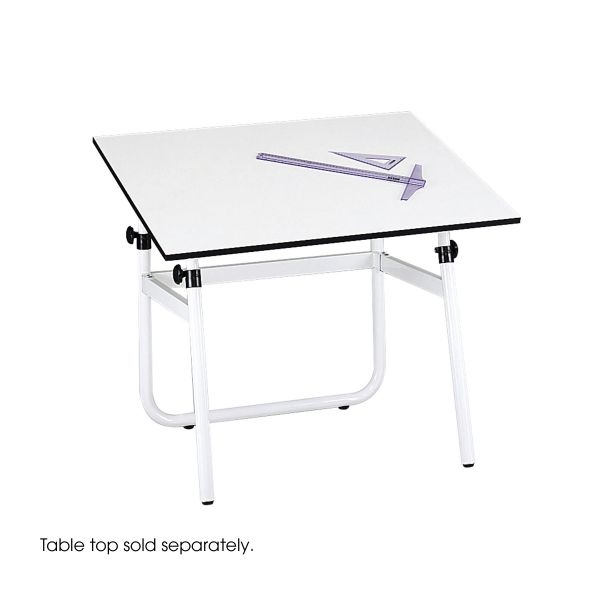 Safco Horizon Drawing Table Base, 31 1/2 x 26 1/2 x 29 to 45h, White
