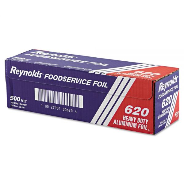 "Reynolds Wrap Heavy Duty Aluminum Foil Roll, 12"" x 500 ft, Silver"