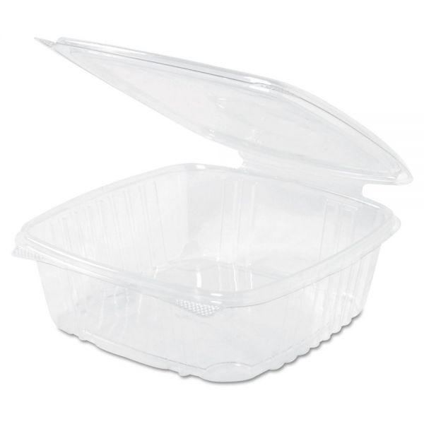 Genpak Clear Hinged Deli Container, Plastic, 48 oz, 8 x 8-1/2 x 2-1/2, 100/BG, 2 BG/CT