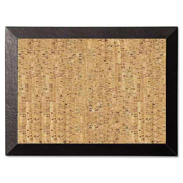 MasterVision Natural Cork Bulletin Board, 24x18, Cork/Black
