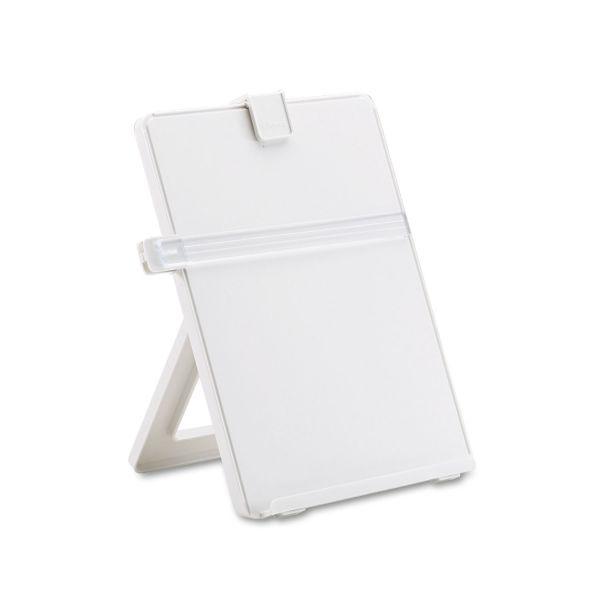 Fellowes Non-Magnetic Desktop Copyholder, Plastic, 125 Sheet Capacity, Platinum