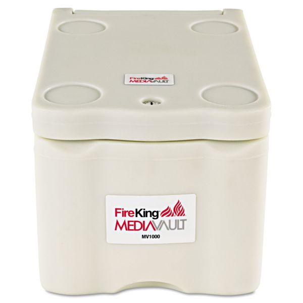 FireKing MediaVault, 0.2 cu. ft, 11 5/8 x 17 1/2 x 10 1/2, UL Listed 125° for Fire, White