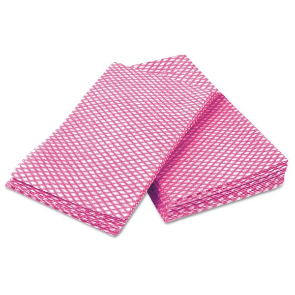 Cascades Busboy Durable Foodservice Towels, Pink/White, 12 x 24, 200/Carton