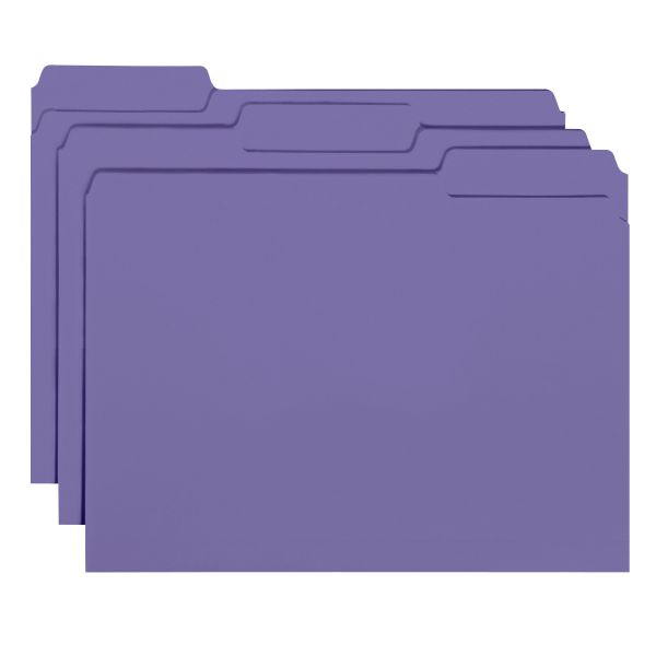 Smead Purple Colored File Folders