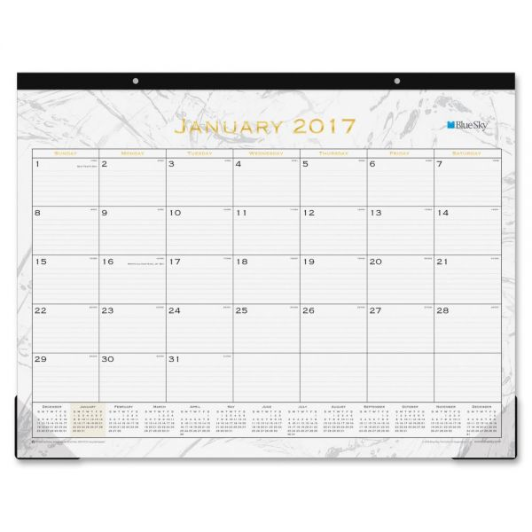 Blue Sky Carrera Desk Pad Calendar