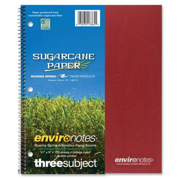 Roaring Spring 3-Subject Wirebound Notebook