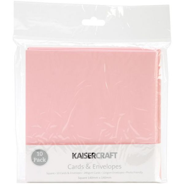 "Kaisercraft Square Cards & Envelopes 5.5""X5.5"" 10/Pkg"