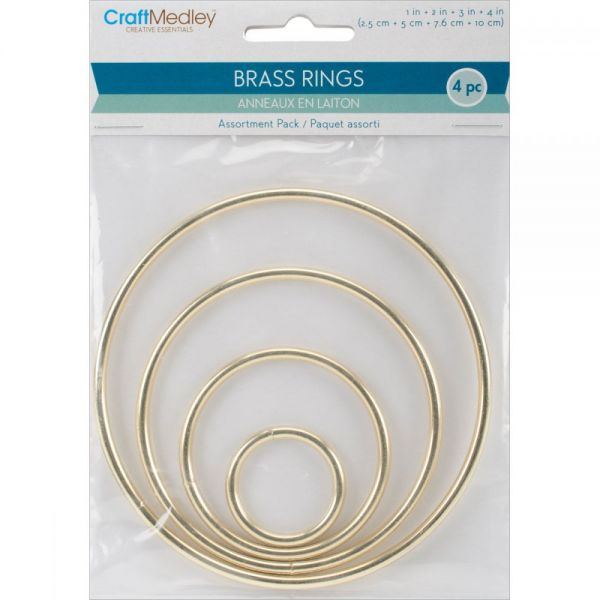 Brass Rings 4/Pkg