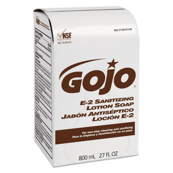 GOJO E-2 Sanitizing Lotion Hand Soap Refills