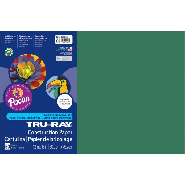 Tru-Ray Sulphite Green Construction Paper
